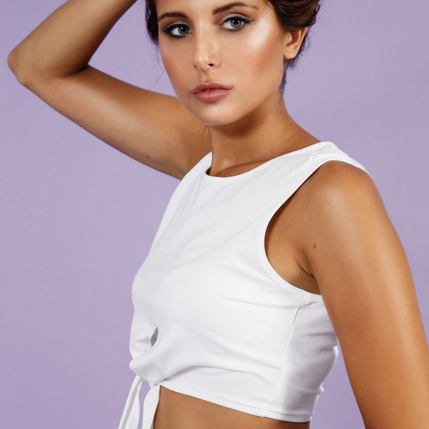 'Nicky' Crop Top White