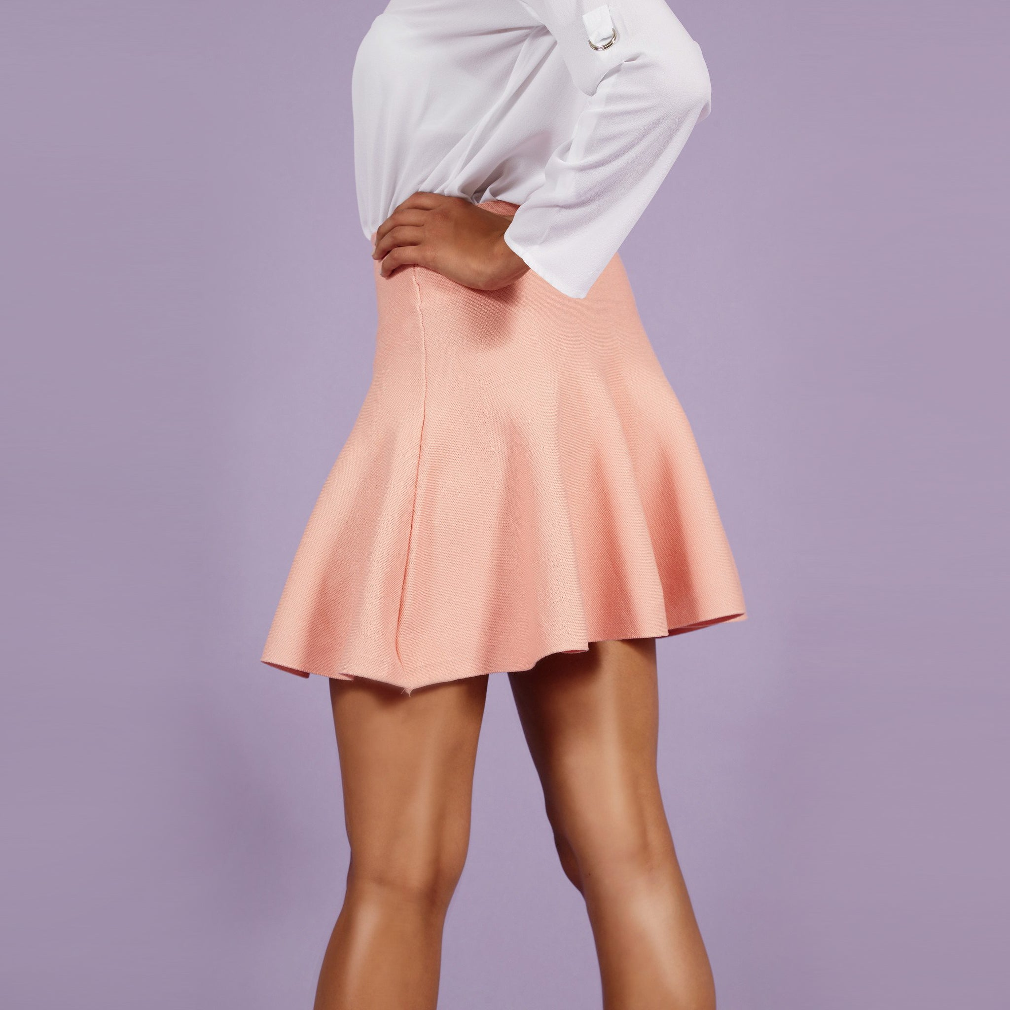 'Pamela' Skater Skirt Rose