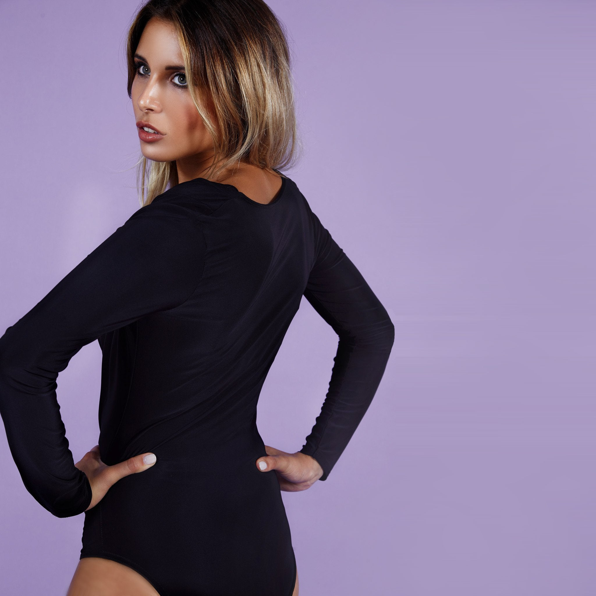 'Serena' Bodysuit Black