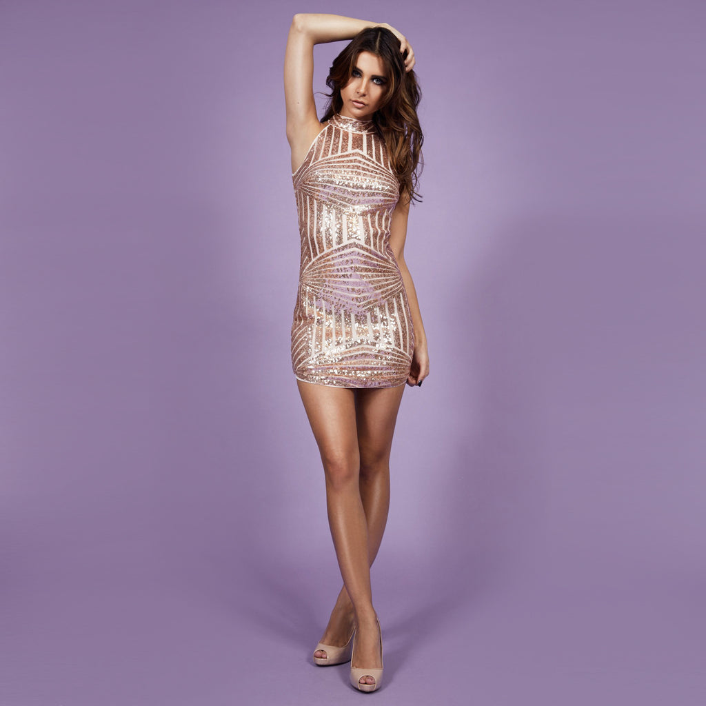 'Adriana' Dress Nude
