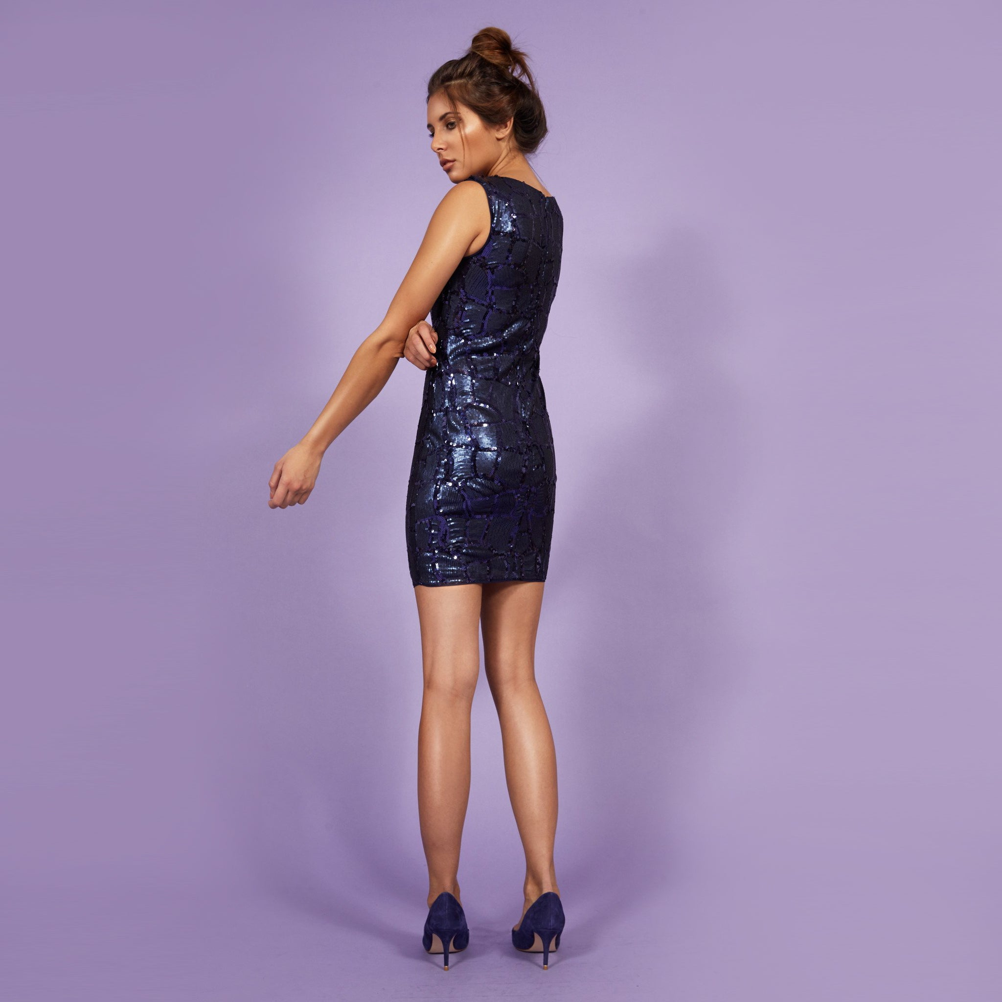 'Eva' Dress Blue