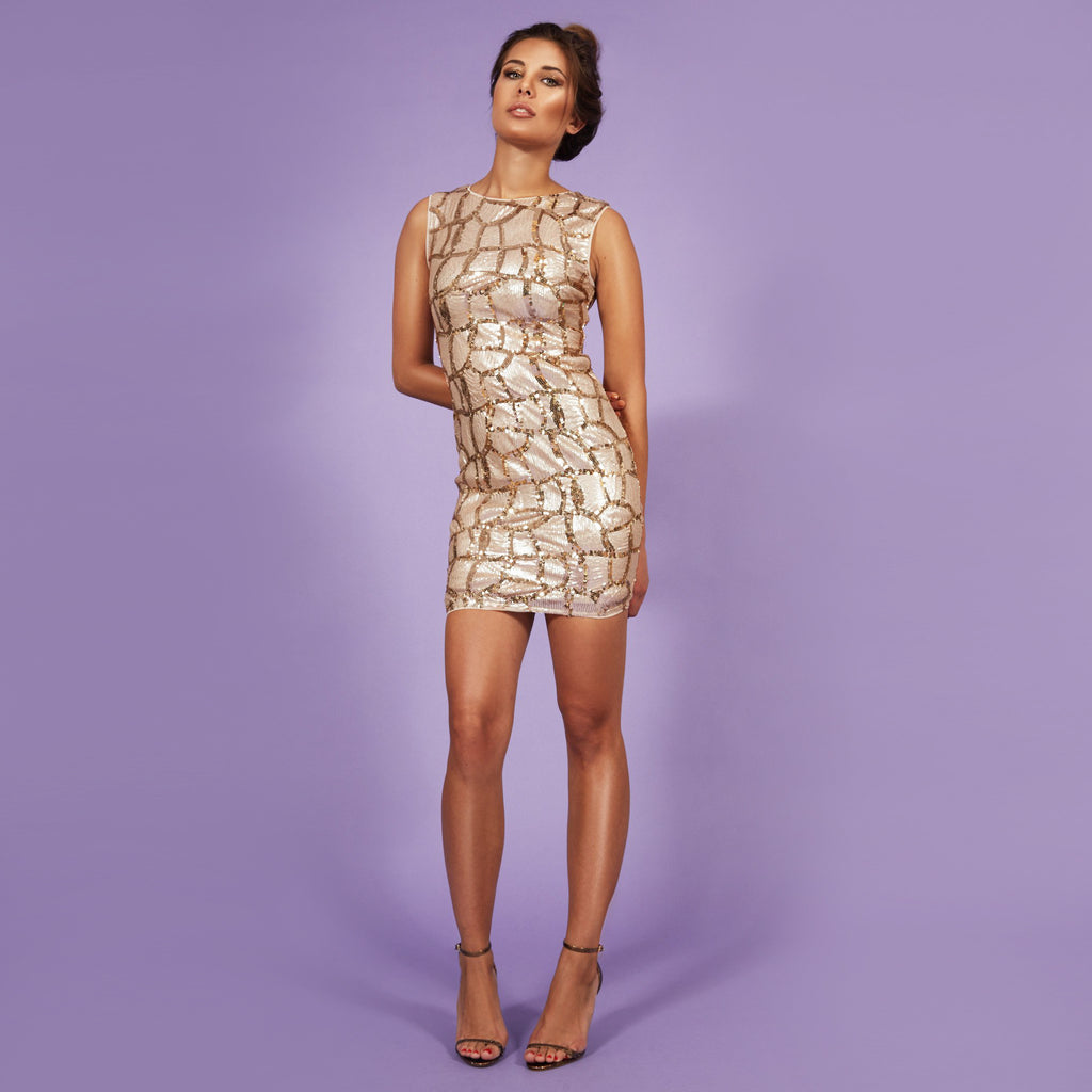 'Eva' Dress Gold