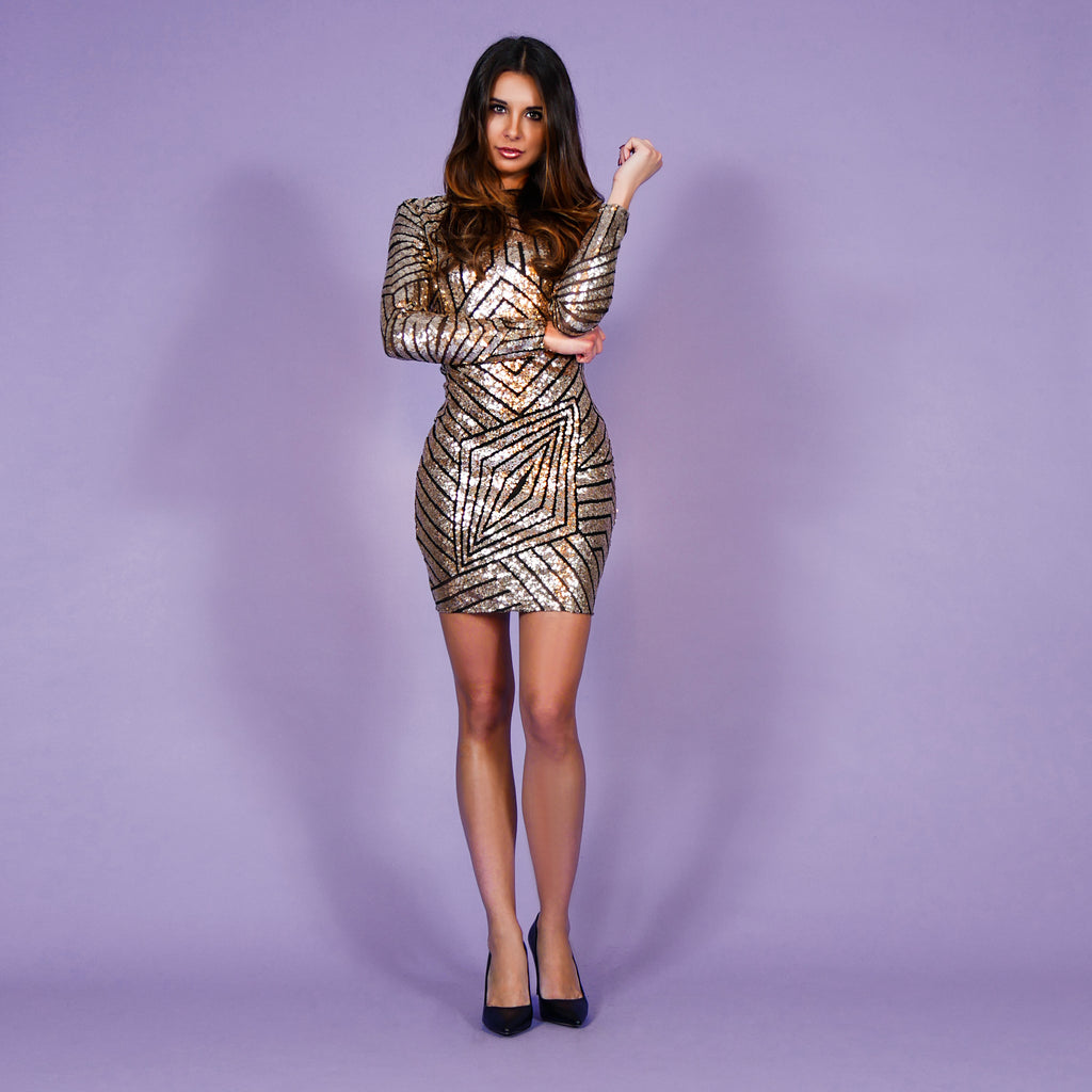 'Gloria' Dress Gold