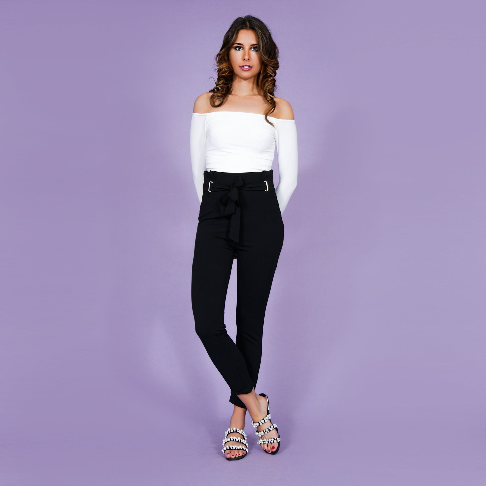 'Sofia' Highwaist Pants Black