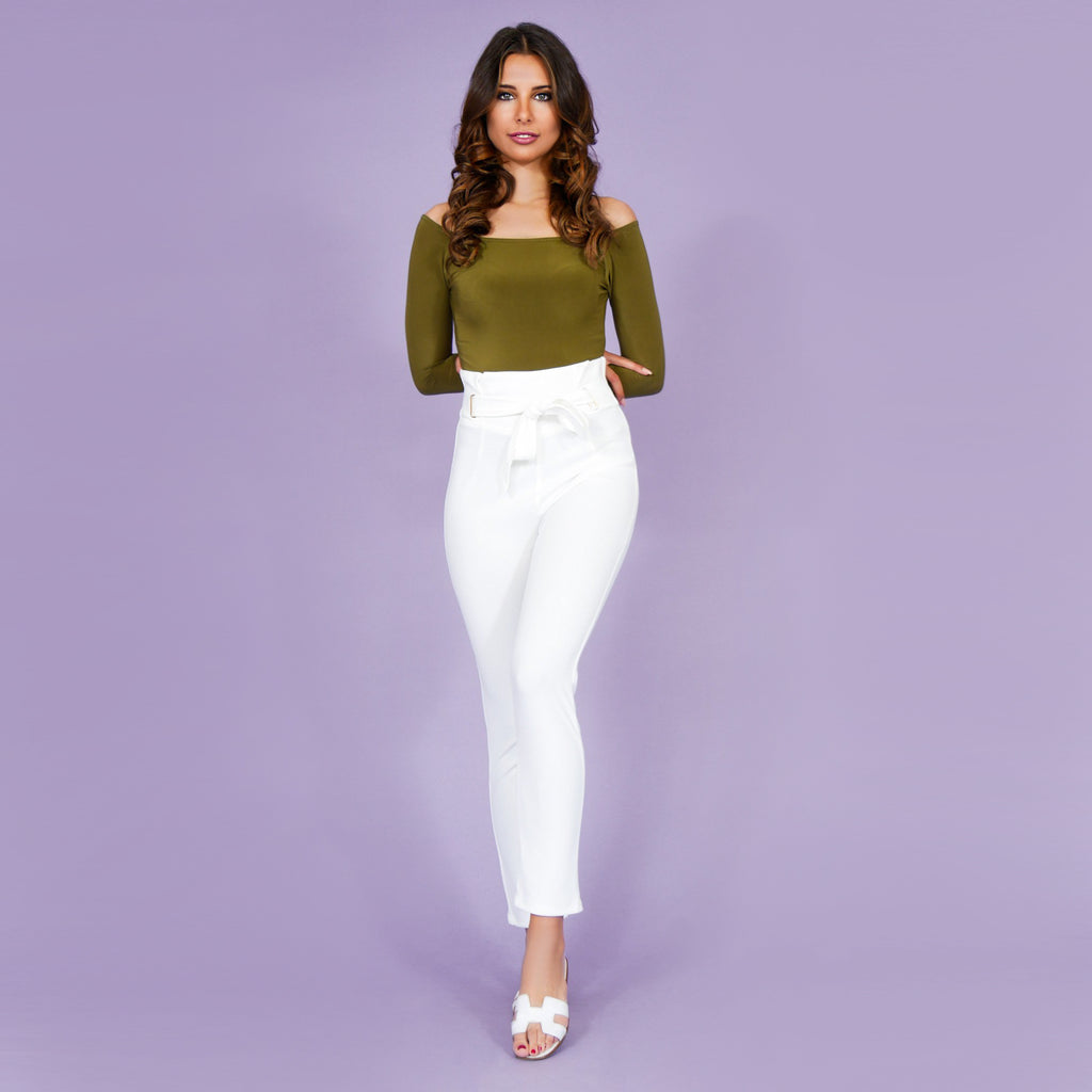 'Sofia' Highwaist Pants White