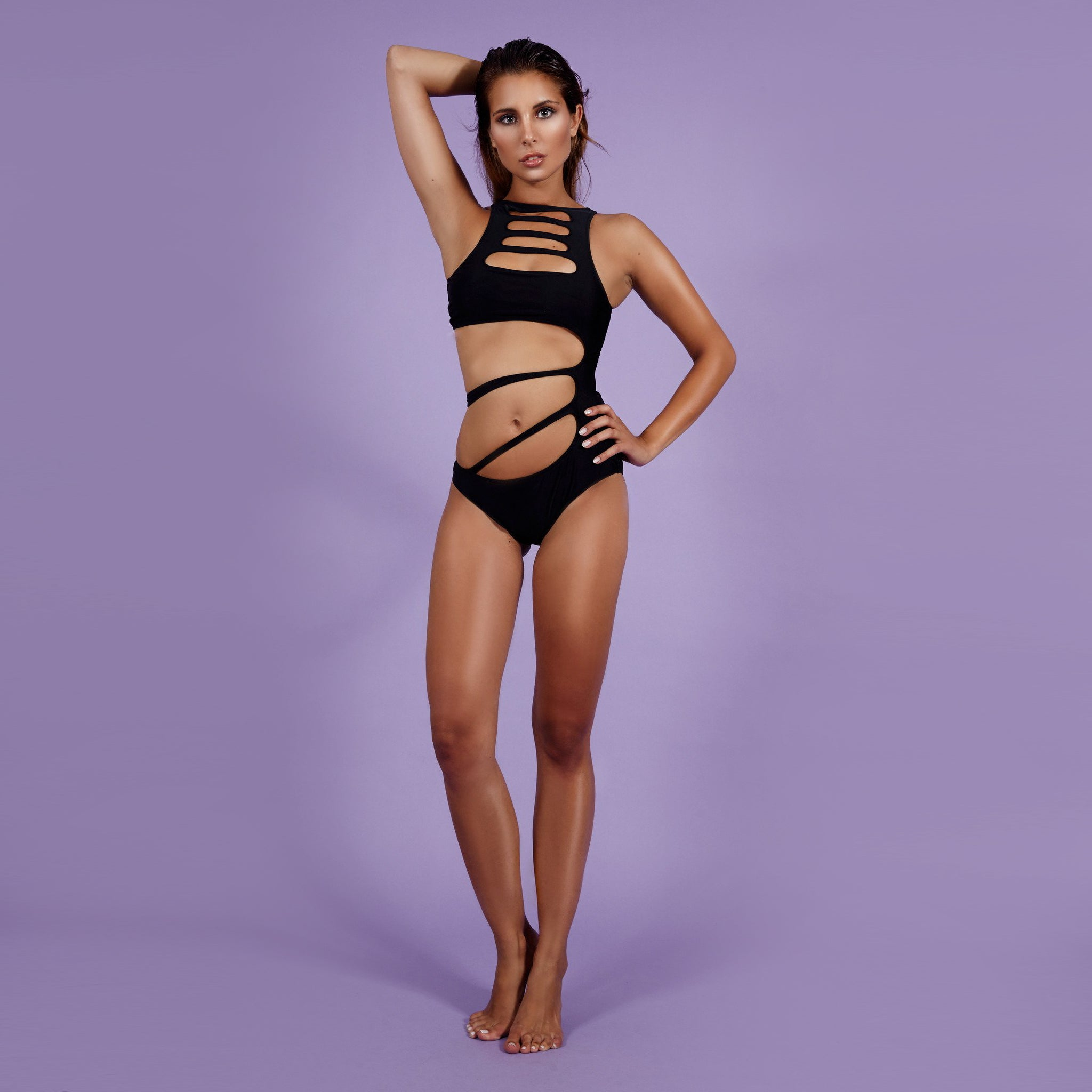 'Strap Queen' Monokini Black