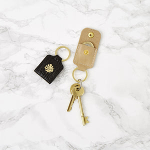 Leather Keyring Coin Holder
