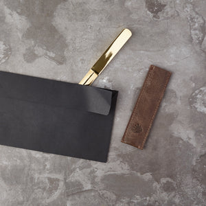 Debonaire Letter Opener with Leather Sleeve