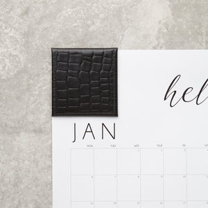 2021 Wall Calendar with Leather Corners