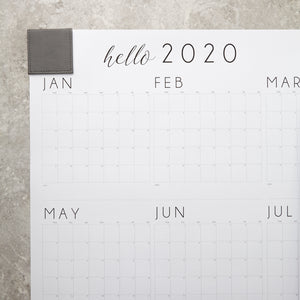 2020 Wall Calendar with Leather Corners