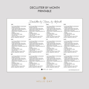 Monthly Declutter Printable