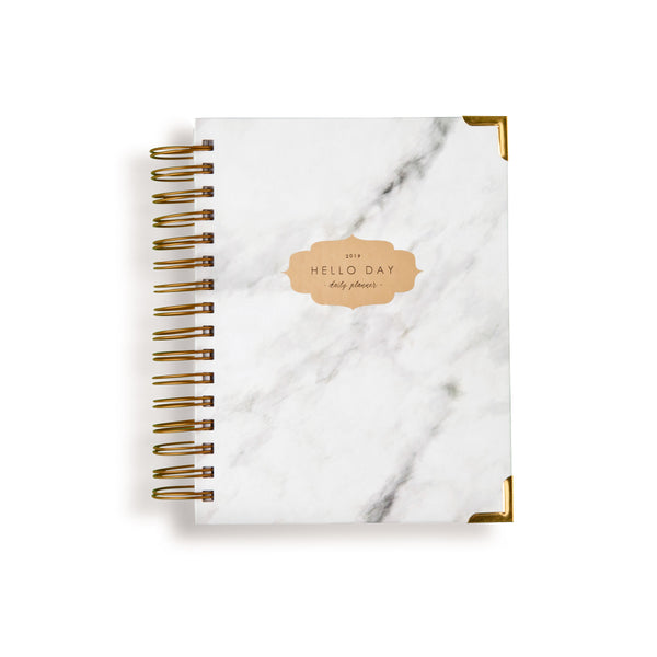 ORIGINAL 2019 Daily Planner: CARRARA