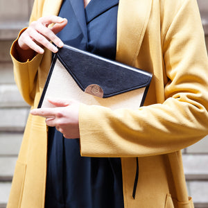 Chic Planner with Model in Yellow Jacket