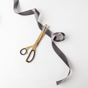 Minimal Brass Gold & Black Scissors