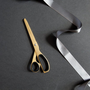 Hello Day Brass Coloured Scissors