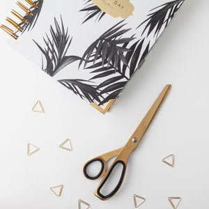 Brass Scissors with Daily Planner