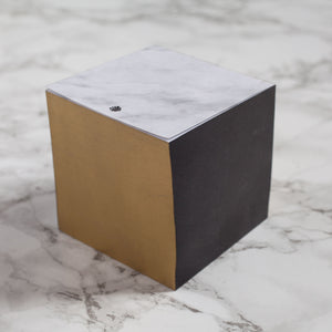 Gold and Black Marble Note Block