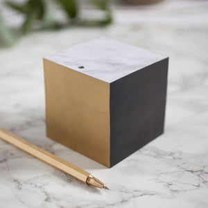 Marble Note block with Brass Pen