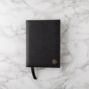 Hello Day Black Leatherette Journal