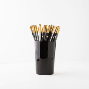 Hello Day Pencils in Black Holder