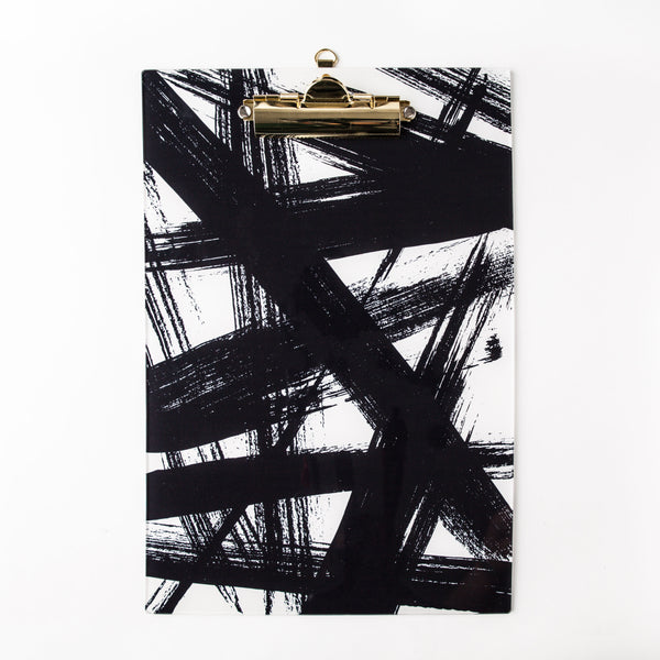 Tate, Black White & Gold Clipboard