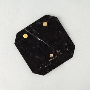 Desk Notepad - Marquina Marble: Black