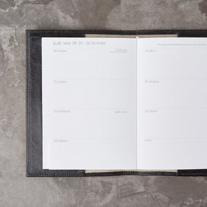 Debonaire Vintage Leather Planner - Noir