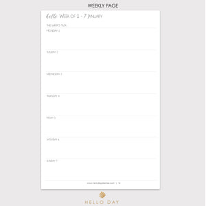 MINIMAL 2019 Daily Planner: TROPIC