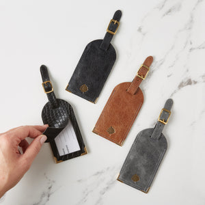 Luxury Leather Luggage Tag