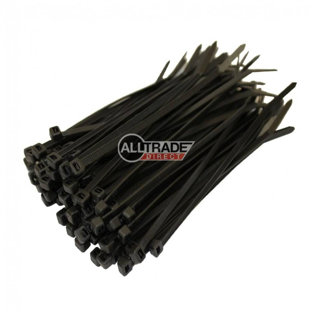 100mm black cable ties