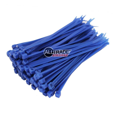 100mm blue cable ties