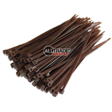 100mm brown cable ties
