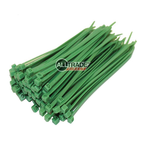 100mm green cable ties