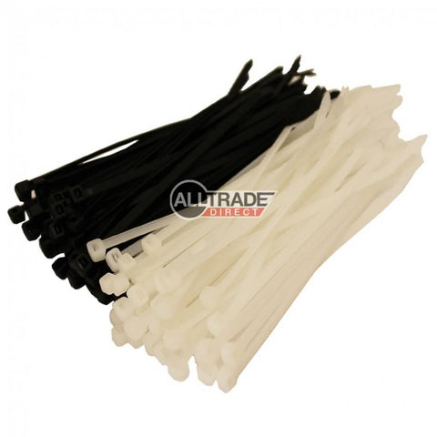 100mm black and white cable ties