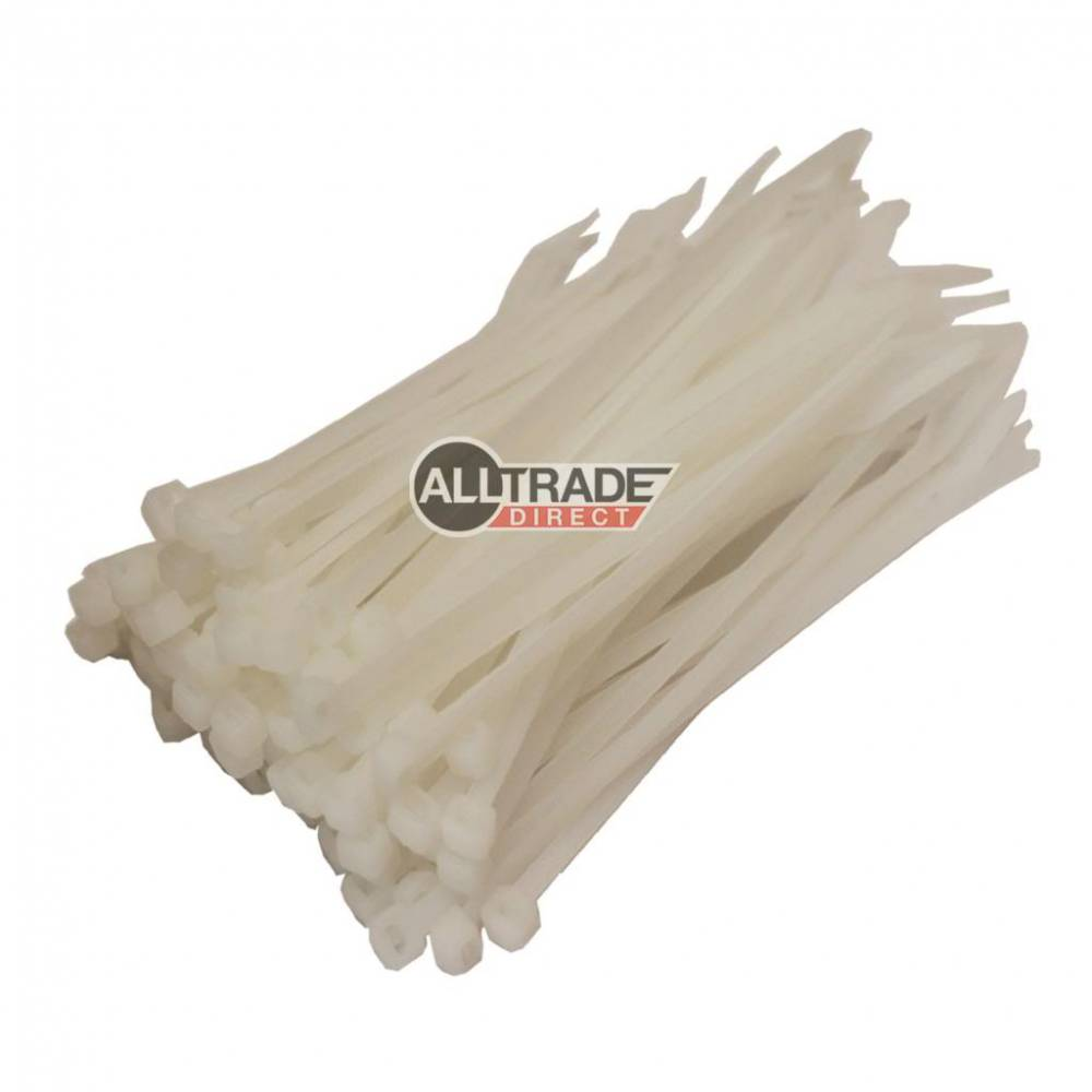 100mm white cable ties
