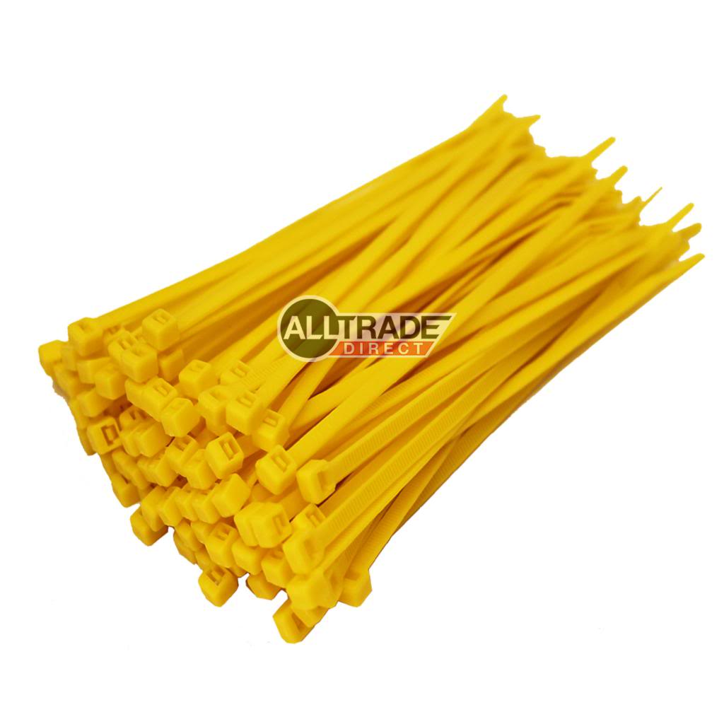 100mm yellow cable ties
