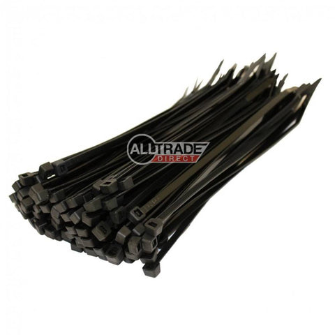 140mm black cable ties