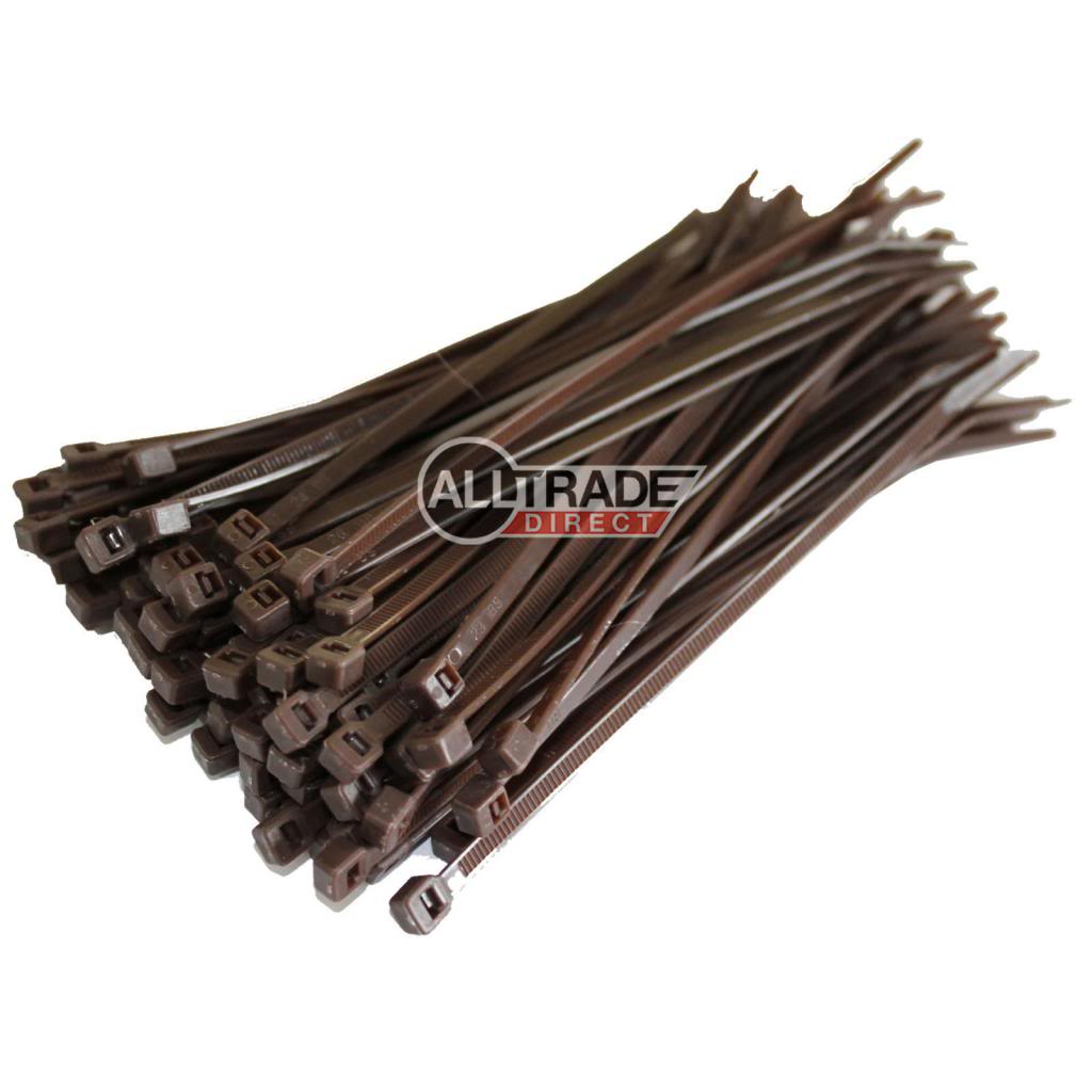 140mm brown cable ties