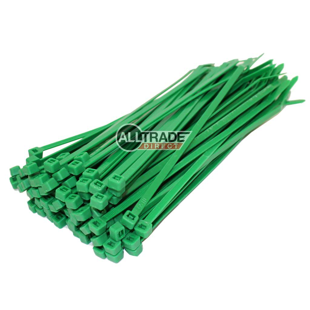 140mm green cable ties