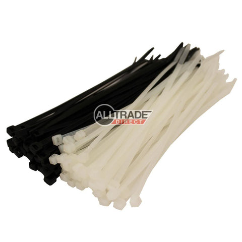 140mm black and white cable ties
