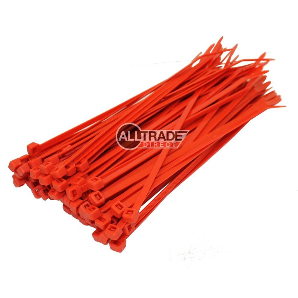 140mm red cable ties