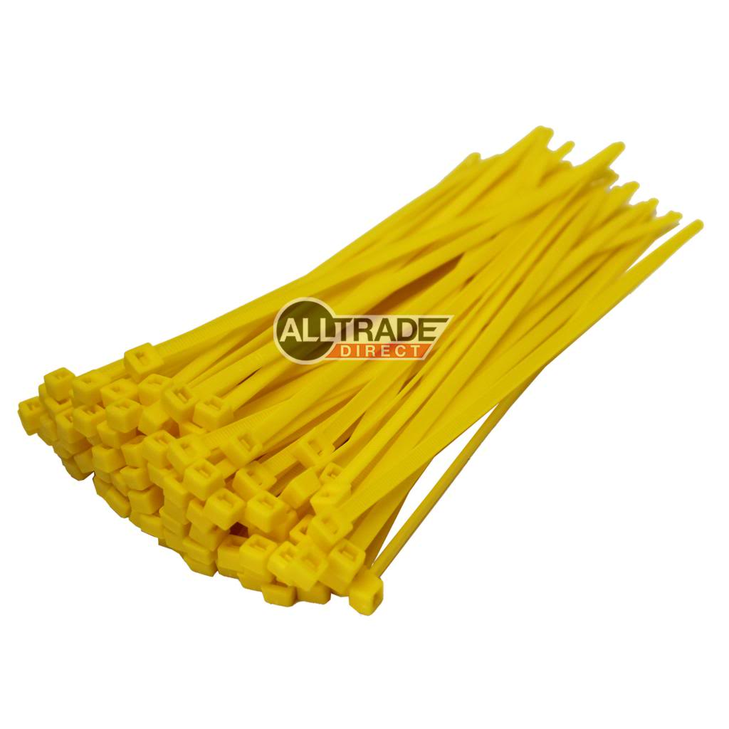 140mm yellow cable ties