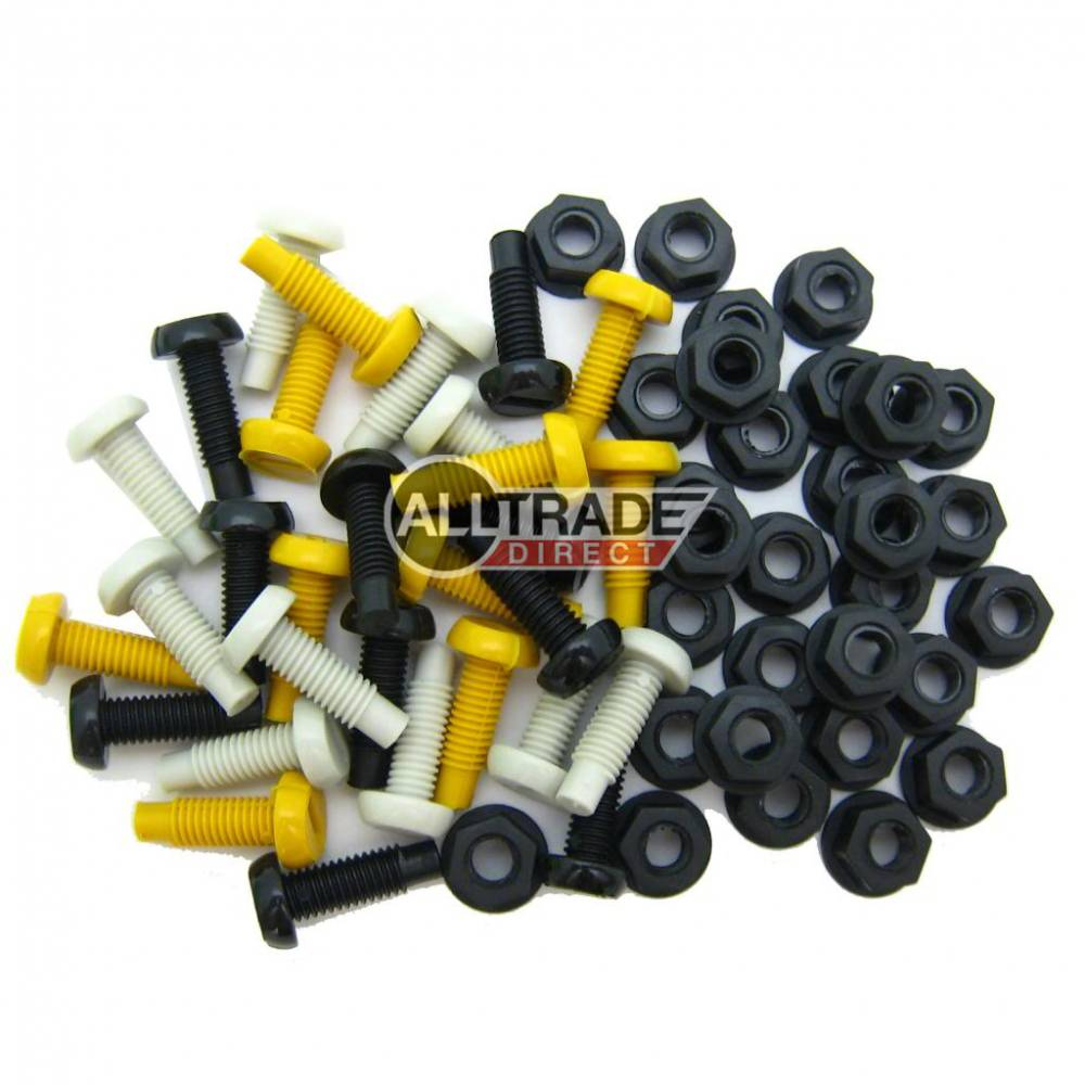 Mixed 19mm Number Plate Bolts & Nuts