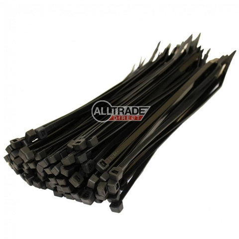 200mm black cable ties