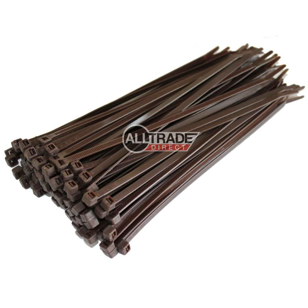 200mm brown cable ties