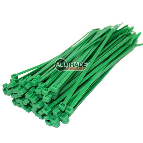 200mm green cable ties