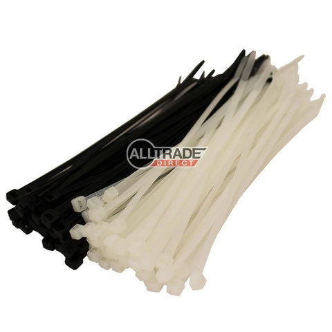 200mm black and white cable ties