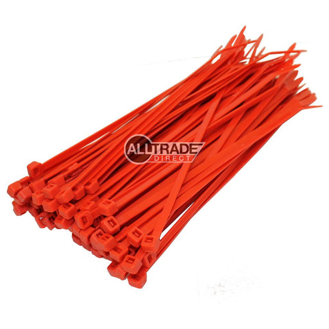 200mm red cable ties
