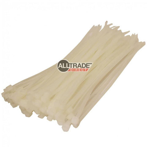 200mm white cable ties