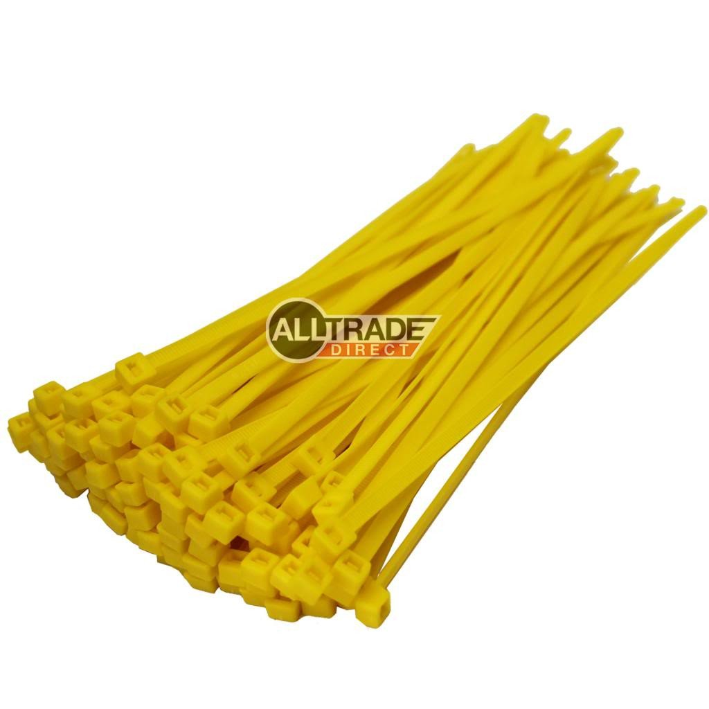 200mm yellow cable ties